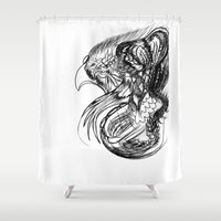 phoenix Shower Curtains featuring Phoenix. by sonigque