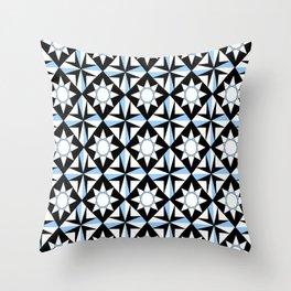 symetric patterns 51 -mandala,geometric,rosace,harmony,star,symmetry Throw Pillow