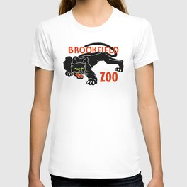 Black panther Brookfield Zoo ad T-shirt