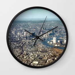 Clear Weather Flying Over Newark New Jersey Wall Clock