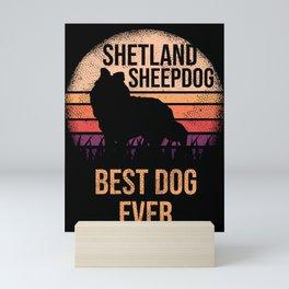 Shetland Sheepdog product For Dog Lovers Cute Dog Mini Art Print