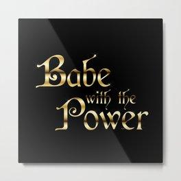 Labyrinth Babe With The Power (black bg) Metal Print