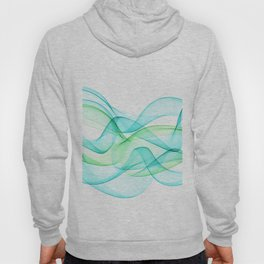 Sea Wave Pattern Abstract Aqua Blue Green Waves Hoody