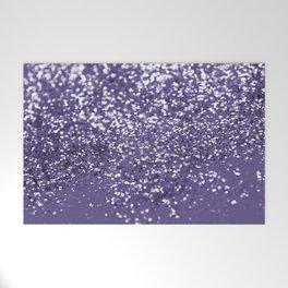 Sparkling ULTRA VIOLET Lady Glitter #1 #shiny #decor #art #society6 Welcome Mat