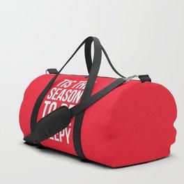 Tis The Season To Be Sleepy (Red) Duffle Bag
