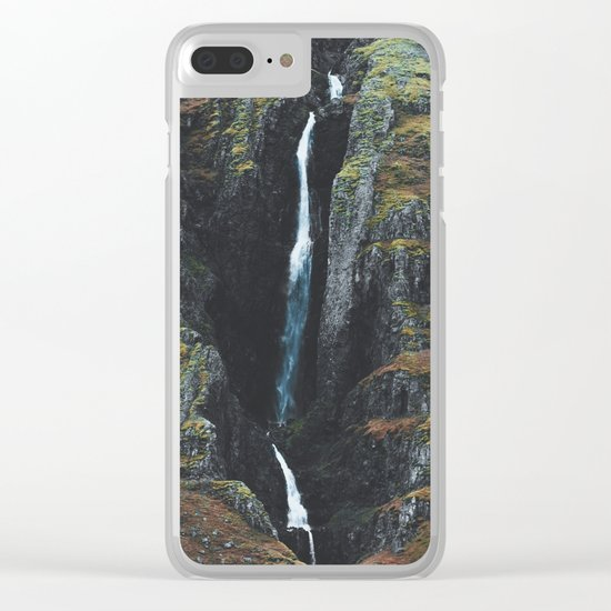 Cracks in the Earth Clear iPhone Case