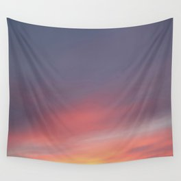 Sunset red and pink sky Wall Tapestry