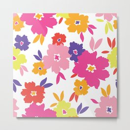 Large Colorful Florals Metal Print