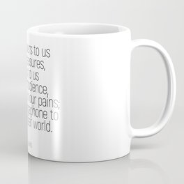 God whispers #quotes #cslewis #minimalism Coffee Mug