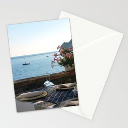 Dinner on the Italian Riviera Stationery Cards