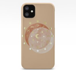 Zodiac Wheel Moon iPhone Case
