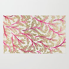 Pink & Gold Branches Rug