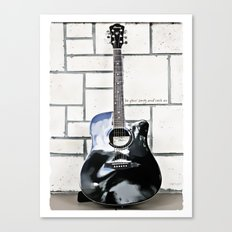Be Your Song and Rock On in White Canvas Print