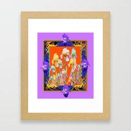 Lilac Purple Color Cumin Iris Garden Art Framed Art Print