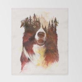 One night in the forest Throw Blanket