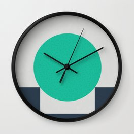 No Way Back / Cyan & Dark Blue Wall Clock