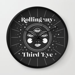 Rolling my Third Eye Wall Clock