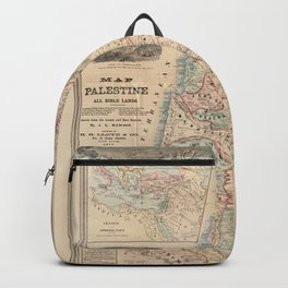 The Bible Readers Palestine Holy Land Map Backpack