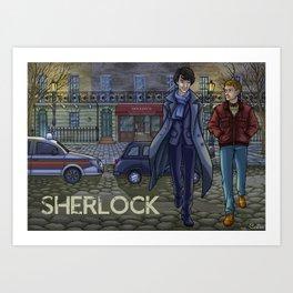 Sherlock fanart Art Print