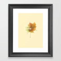 Maple Leafs Framed Art Print