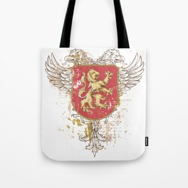Coat of Arms Shield - Griffin Seal - Crown Lion and the Mark Tote Bag