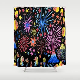 let's go see fireworks Shower Curtain