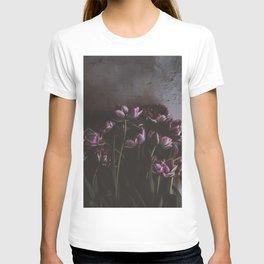 Dark Purple Floral (Color) T-shirt
