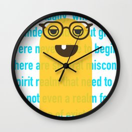 Ghostsplaining Wall Clock