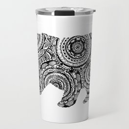 Mandala Bear Travel Mug