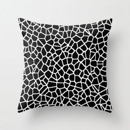 staklo (black with white) Throw Pillow