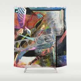 Computers Could Never Do This (oil on canvas) Shower Curtain