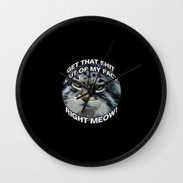Right Meow! Wall Clock