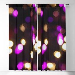 Purple & Gold Bokeh Blackout Curtain