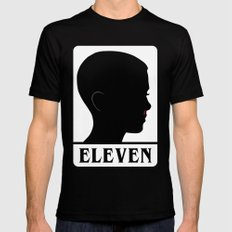 Eleven MEDIUM Black Mens Fitted Tee