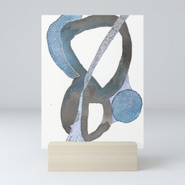 And You Also Abstract Watercolor Mini Art Print