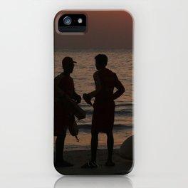 Life Guard Station at Sunset Palolem Beach iPhone Case
