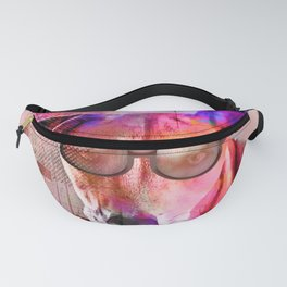 Cool Hipster Dog With Sunglasses Fanny Pack