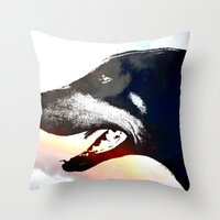 caleb troy Throw Pillows featuring Troy by Jake Stanton