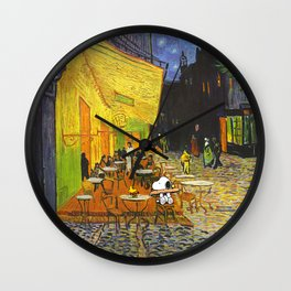Snoopy meets Van Gogh Wall Clock