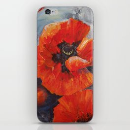 Poppies for K iPhone Skin