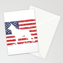 German Shepherd USA Flag Sheepdog Patriotic design Gift Stationery Cards