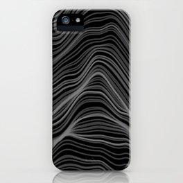 Soft Peaks Black iPhone Case