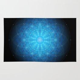 crystal mind. sacred geometry mandala Rug
