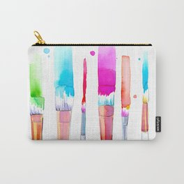 Watercolour Paint Brushes Carry-All Pouch