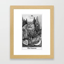 The Empress - Cat Tarot card Framed Art Print