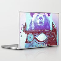 writer Laptop & iPad Skins featuring Grizzly writer by RedGoat