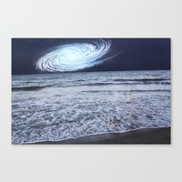 rileigh smirl Canvas Prints featuring Galaxy Sky by Rileigh Smirl