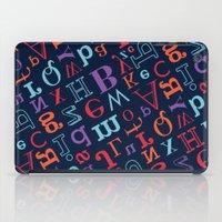 alphabet iPad Cases featuring Alphabet  by cactus studio