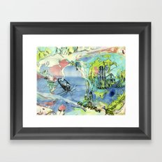 #60 The Elephant Train out of Cypress Framed Art Print