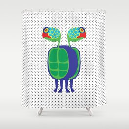 Animal Mardi Gras: Turtle Shower Curtain